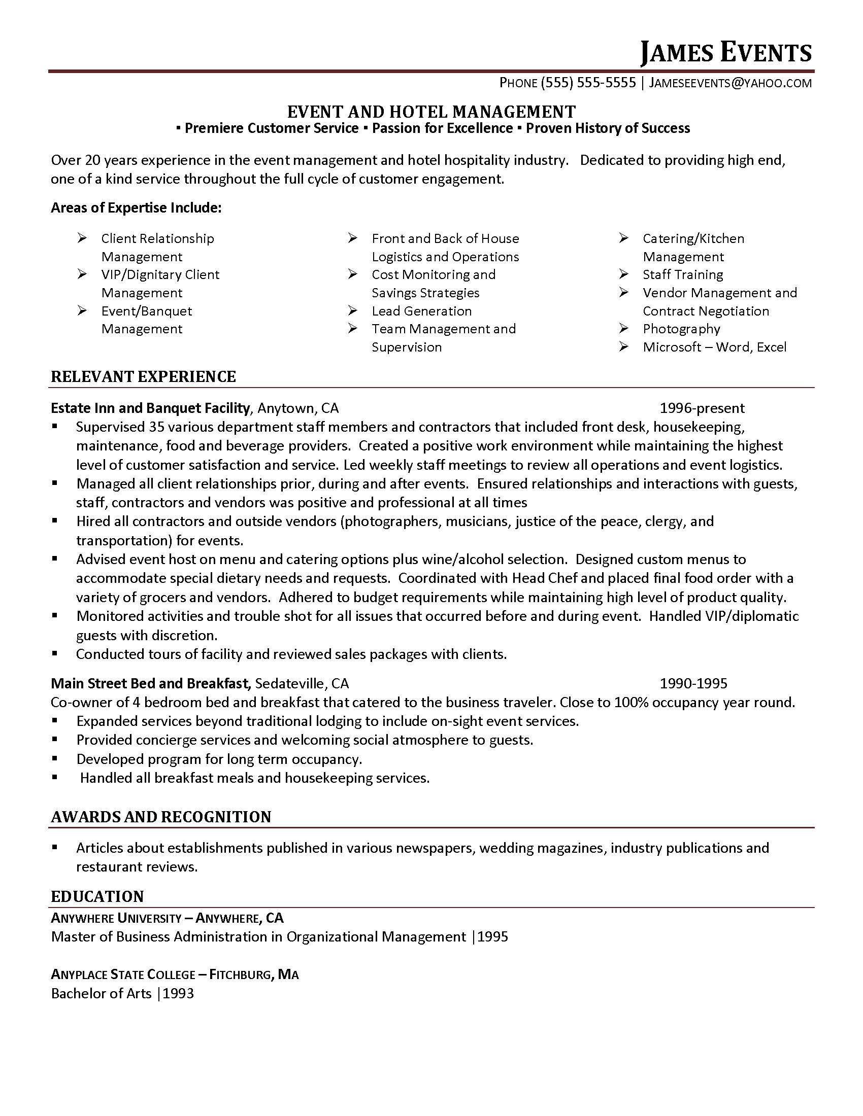 Duty Manager Cover Letter Sample   LiveCareer COVER LETTER Mont Park Hotel