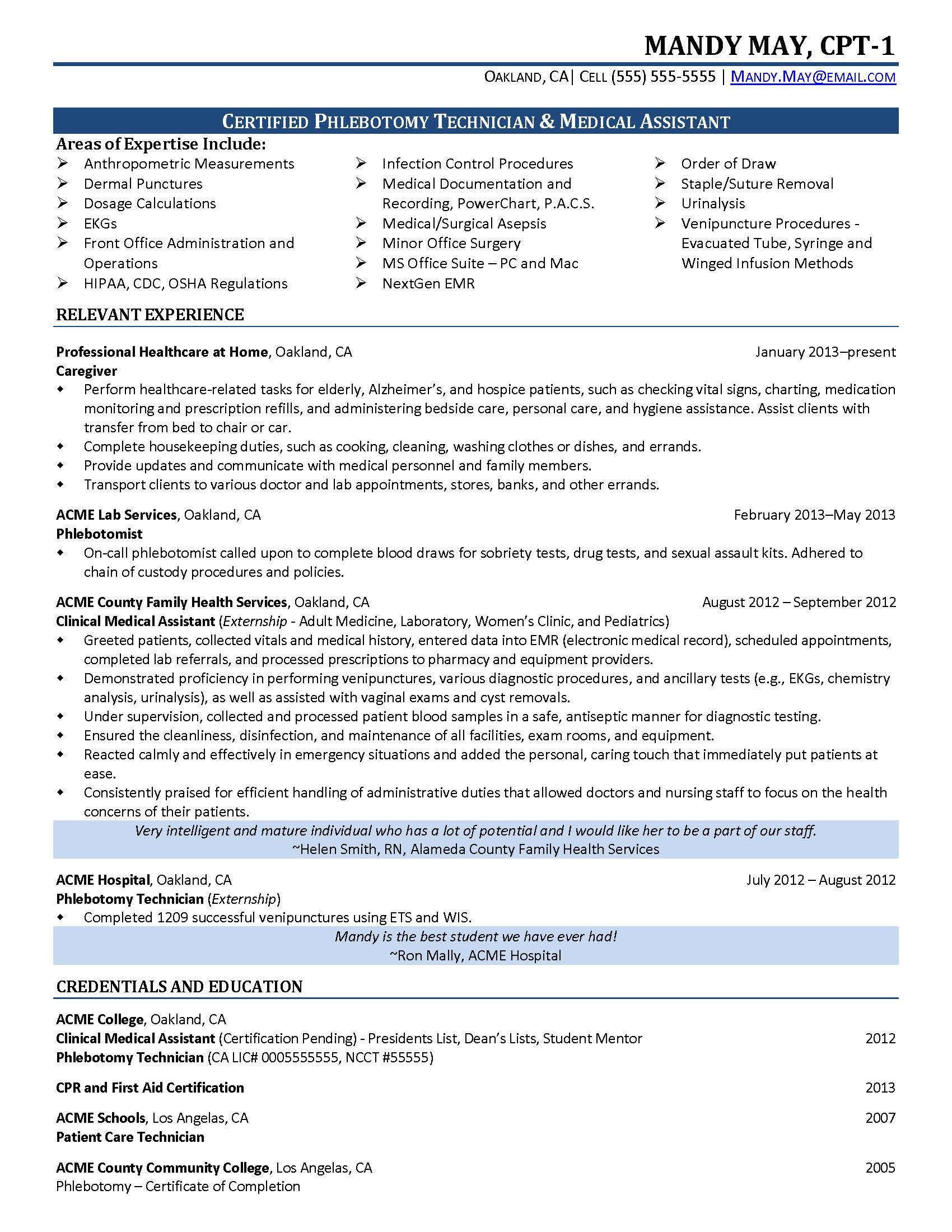 phlebotomist resume sample phlebotomy template phlebotomist resume sample resume for phlebotomist acting resume sample phlebotomy
