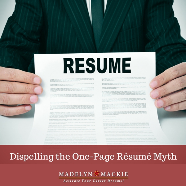 Dispelling the One-Page Résumé Myth