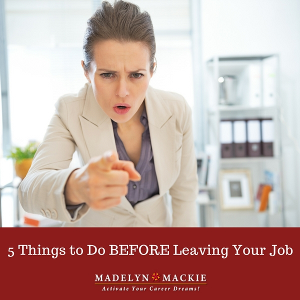 5 Things to Do BEFORE Leaving Your Job