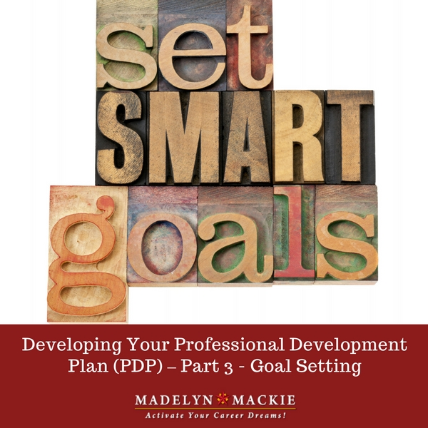 Developing Your Professional Development Plan (PDP) – Part 3 – Goal Setting