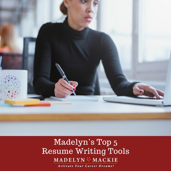 Madelyn's Top 5 Resume Writing Tools