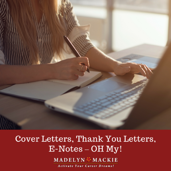 Cover Letters, Thank You Letters, E-Notes – OH My