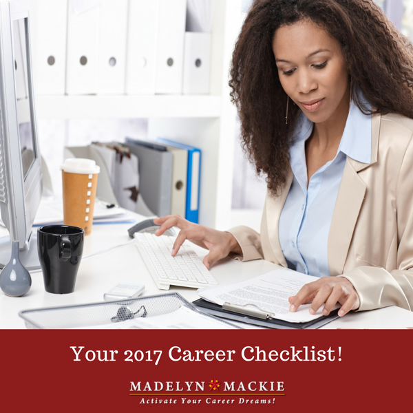 Your 2017 Career Checklist!