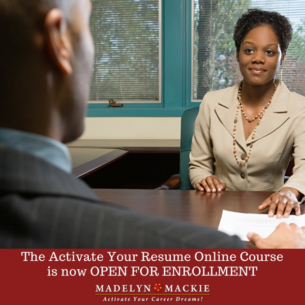 Activate Your Resume Online Course is OPEN FOR ENROLLMENT
